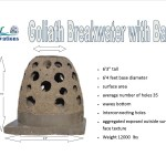 goliath breakwater with base