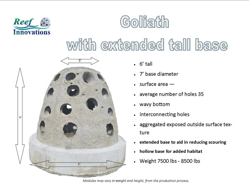 Goliath on extended base